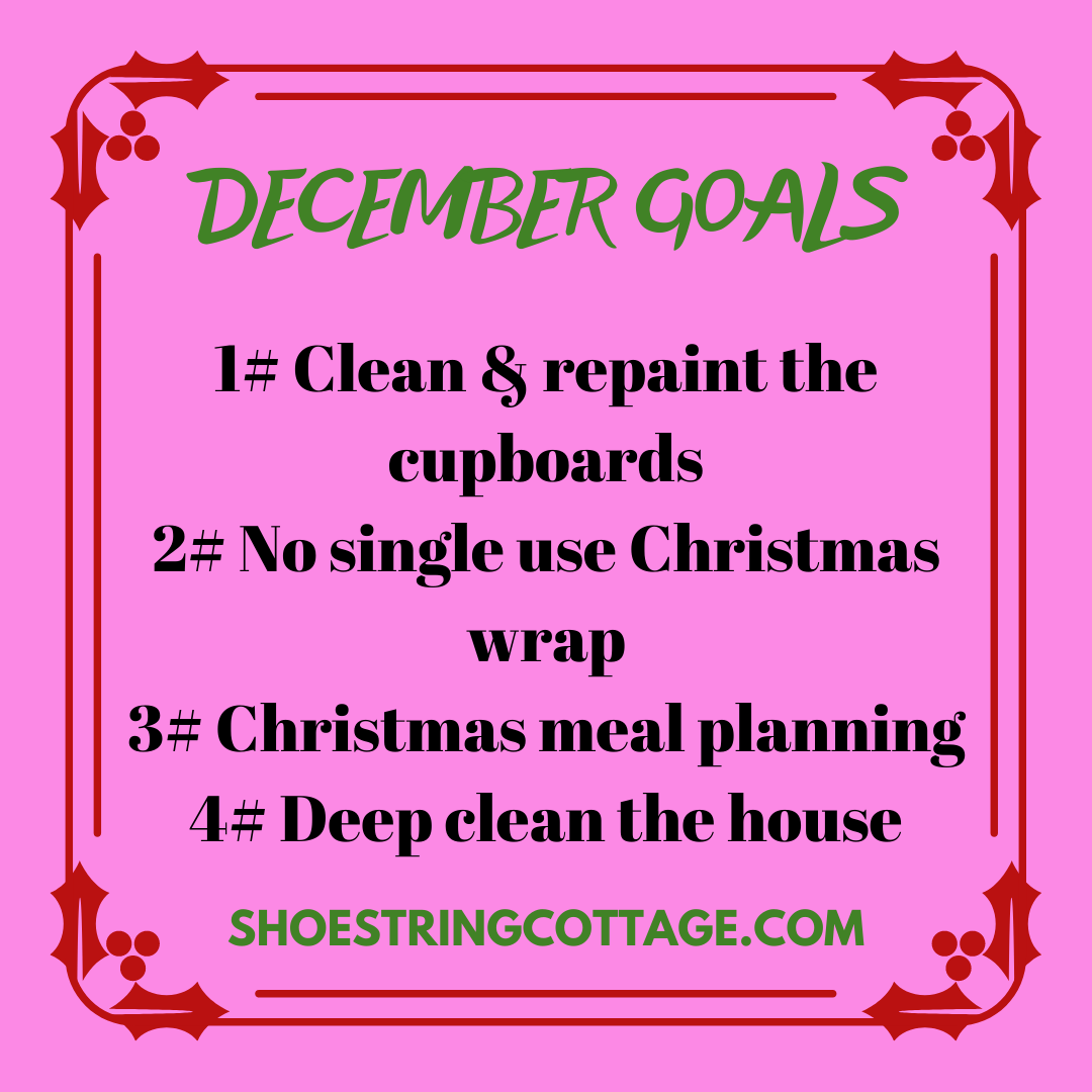 monthly goals for December