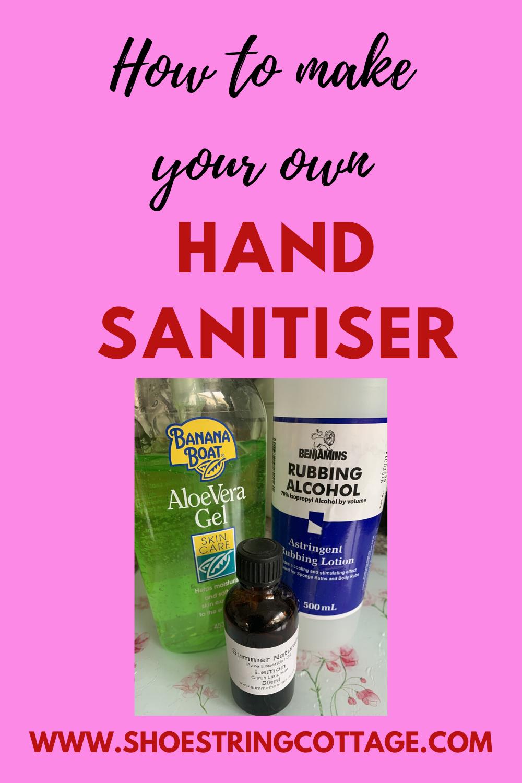 make your own hand sanitiser